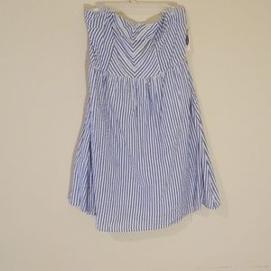 Old Navy Stripe Strapless Dress